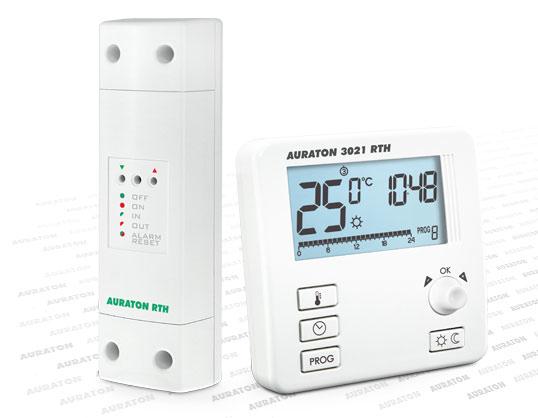 Bezprzewodowy termostat z programatorem czasowym, natynkowy.